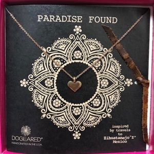 Dogeared Paradise Found Carefree Heart Necklace GD